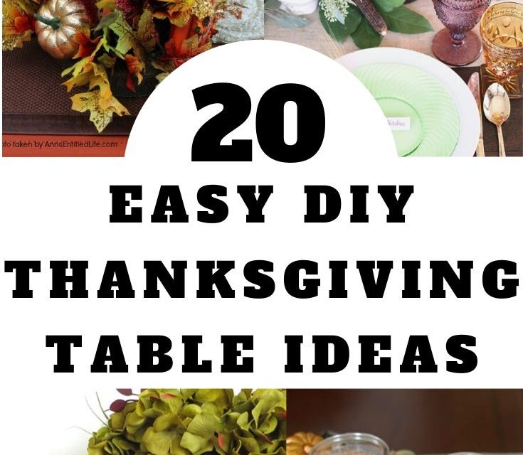Last Minute Thanksgiving Centerpieces & Decorations
