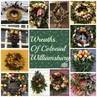 Christmas Wreaths of Williamsburg–Using natural elements to create wreaths