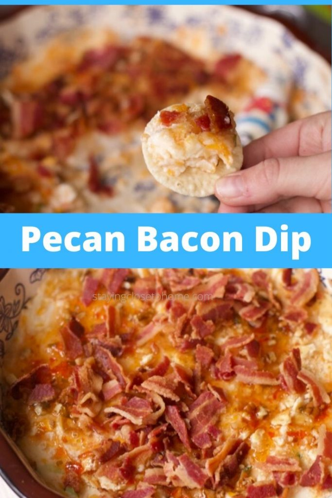 Out of this World Warm Pecan, Cheese and Bacon Dip recipe is a great appetizer to serve for brunch or mid day party. Who doesn't love warm cheese and bacon?