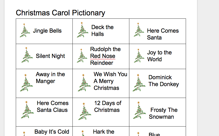 15 Christmas Party Games for Adults and Kids Christmas Pictionary