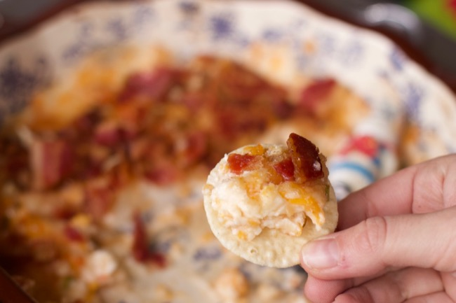 Out of this World Warm Pecan, Cheese and Bacon Dip Recipe