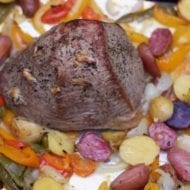 Roast Beef with Vegetables Sheet Pan Dinner