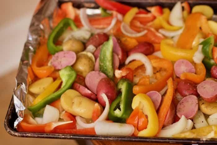 Roast Beef with Vegetables Sheet Pan Dinner