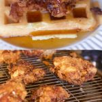 Chicken and waffles recipes #breakfast #chicken