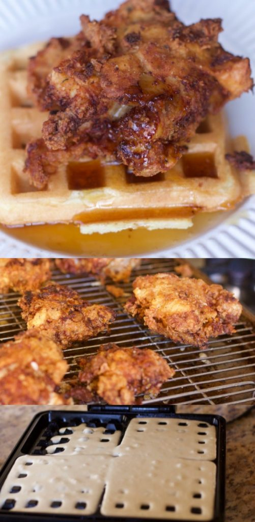 Chicken and waffles recipes #breakfast #chicken