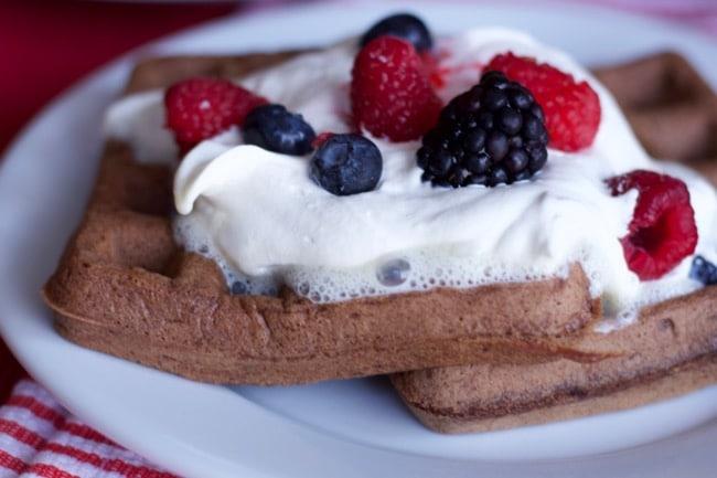 plated-chocolate-waffles