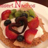 Dessert Nachos A healthy Valentine's Day Dessert