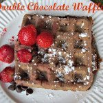Double Chocolate Waffles—Quick Breakfast for your Valentine