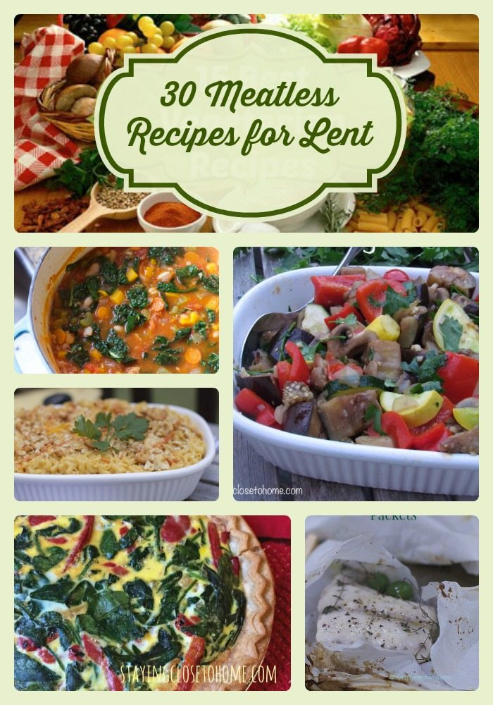 30 Family Friendly Vegetarian Dinner Recipes for Lent
