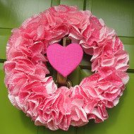 Valentine's Day Wreath DIY–Under $10 Under 1 hour