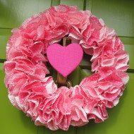 Valentine's Day Wreath DIY–Under $10 Under 1 hour