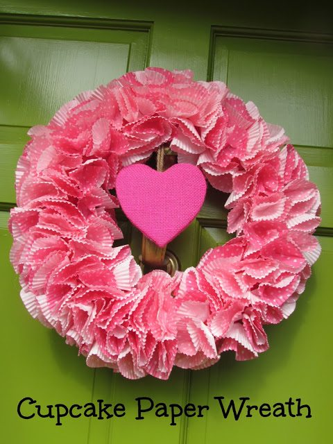 Valentine's Day Cupcake Liner Wreath