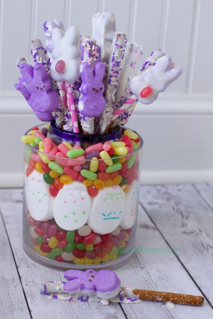 peeps pretzel display Edible Easter Centerpiece & PEEPS Treats