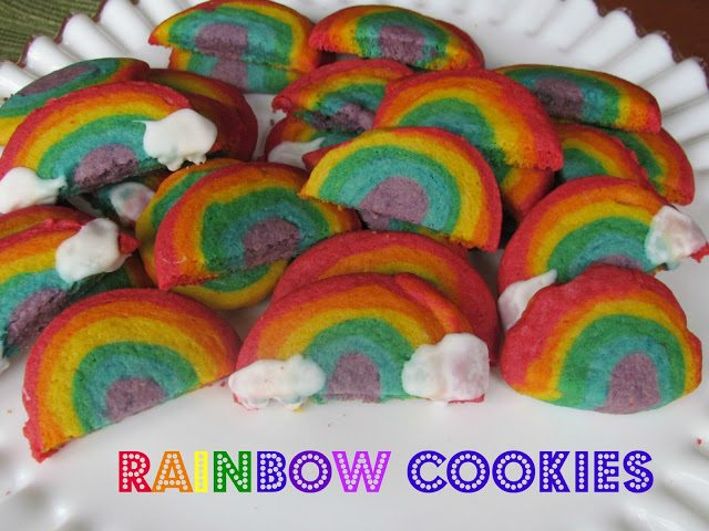 St. Patrick's Day Pot of Gold Rainbow Cookie Recipe