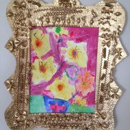 Handmade Mothers Day Gifts or DIY Earth Day Craft –Noodle Frame