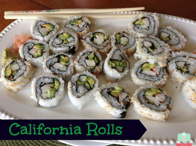 how to make california rolls recipe