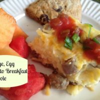 Sausage, potato and Egg Breakfast Casserole