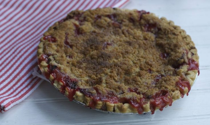 Strawberry Rhubarb Pie :Mothers Day Brunch Recipe
