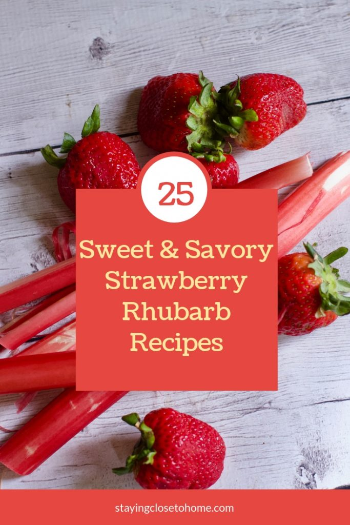 sweet and savory strawberry rhubarb