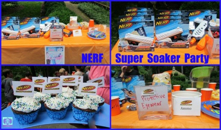 Summer Birthday Party Ideas-- NERF Water Blaster