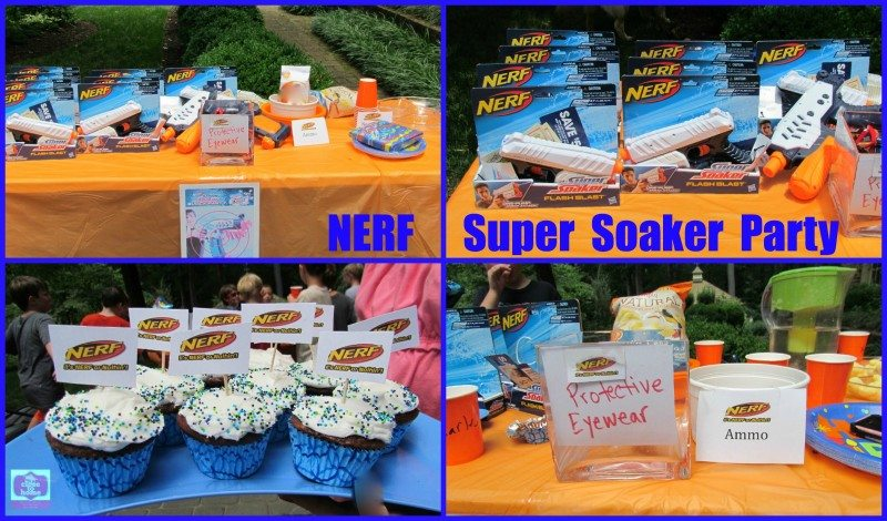 Summer Birthday Party Ideas– NERF Water Blaster