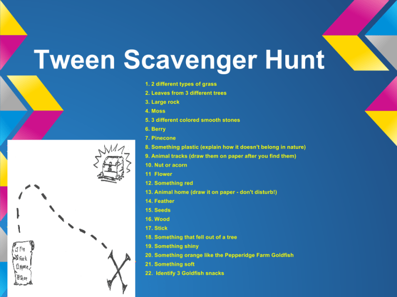 Get your Tweens Outside with this Free Tween Scavenger Hunt