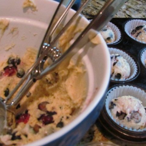 Make ahead Blueberry Muffin Batter