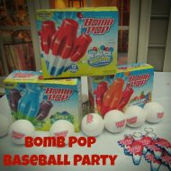 Summer Party Idea- Bomb Pop Baseball Party