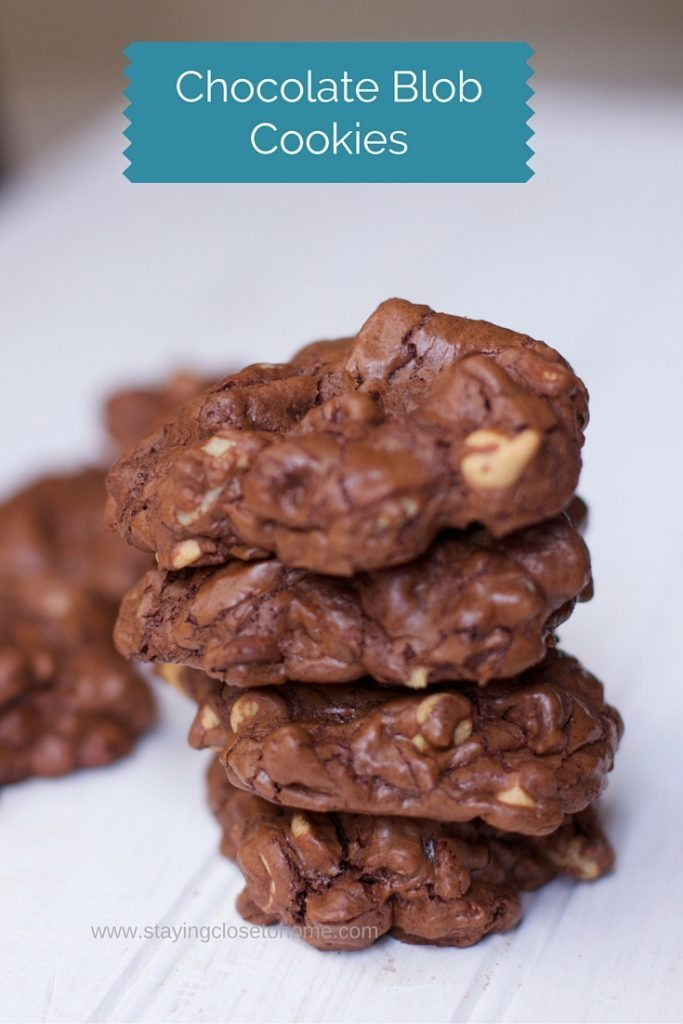 The ultimate chocolate cookie recipe filled with chocolate, peanut butter chips and nuts. You can just eat one of these chocolate peanut butter glob cookies