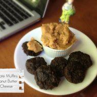 Chocolate Muffins with Peanut Butter Cream Cheese.  Secret Recipe Club