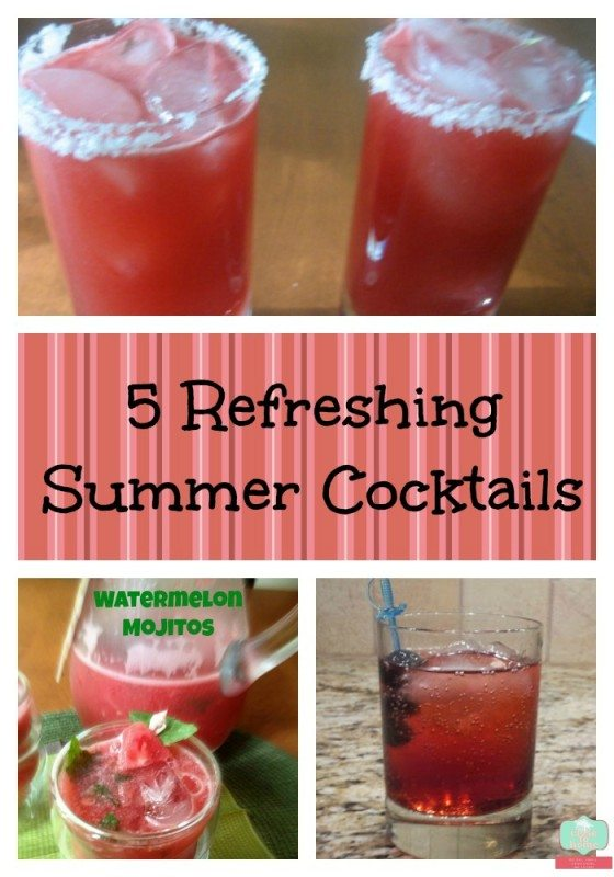 Summer Drink Recipes are a great treat after a long hot day!  Don't miss our Watermelon Mojitos and others in this great list of Summer Drink Recipes!