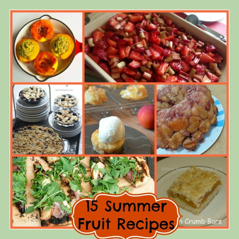 Best Summer Fruit Recipes  Strawberry, Blueberry, Peaches and Plums