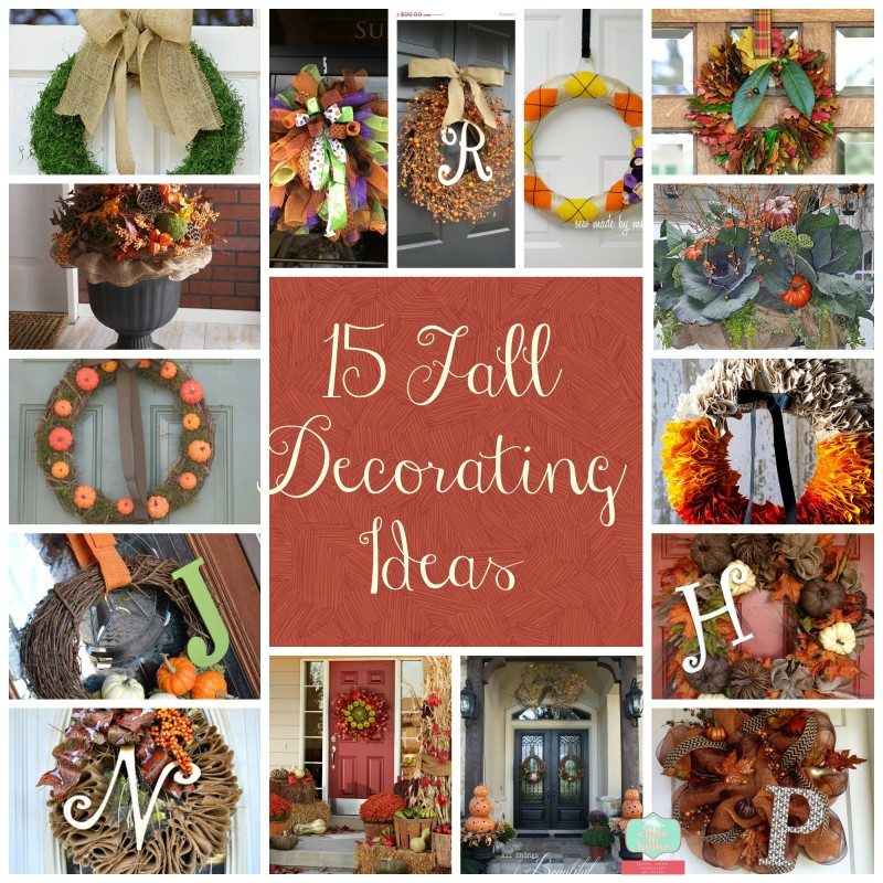 15 fall decorating ideas 15 Fall Wreath Ideas (Home decor for fall)
