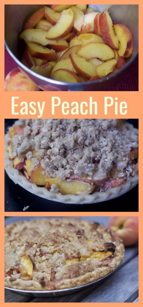 Easy Peach Pie Recipe PIn