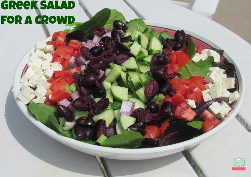 Greek Salad Recipe Deconstructed –Feed a Crowd