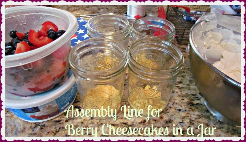 cheesecake recipe in jar