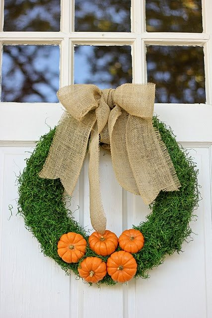 grass fall wreath idea