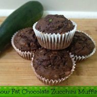 Amazing Low fat Chocolate Zucchini Muffins