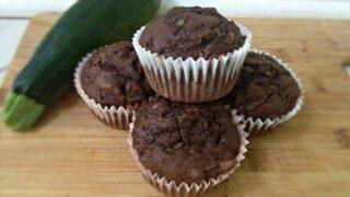 Low fat Chocolate Zucchini Muffins- Low Fat