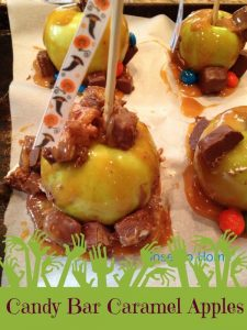 candy bar caramel apples