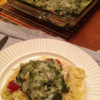 Chicken and Spinach Parmesan