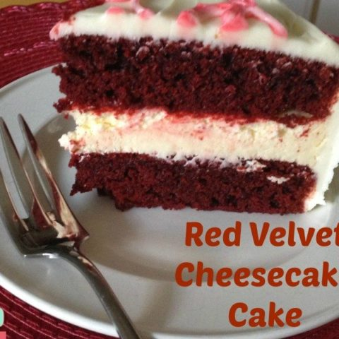 Red Velvet Cake with Cheesecake Filling