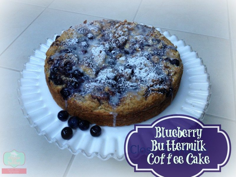 Blueberry Coffee Cake Recipe –Lightened Up