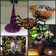 Duck Tape Crafts For Halloween- Stick or Treat