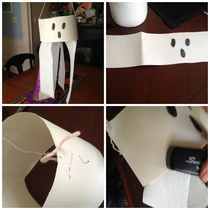 toilet paper ghost Last minute Halloween Decorations on A Budget