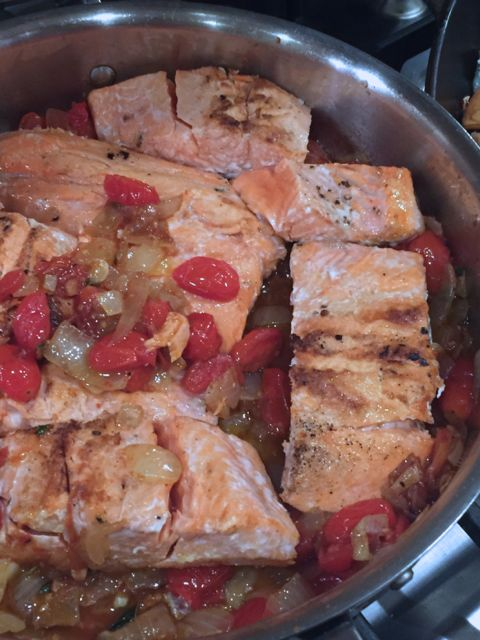 ina garten salmon recipe salmon with melting tomatoes