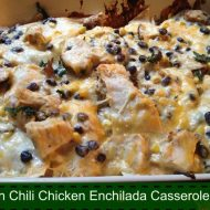 Green Chili Chicken Enchilada Casserole Recipe