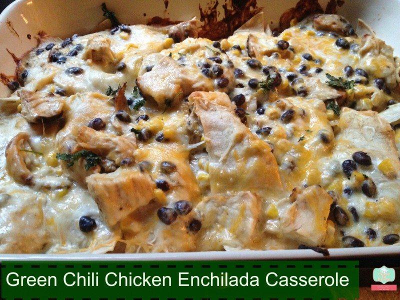 Green Chili chicken enchilada