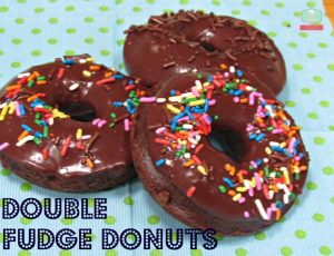 baked donuts recipe Double Fudge Baked Donuts