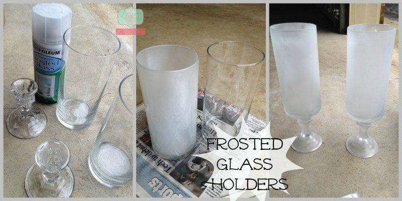 How to make Frosted Glass Candle Holders